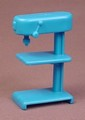 Blue Workshop Drill Press Toy, 2 5/8 Inches Tall, Playset Accessory, Play Set