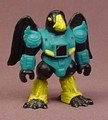 Battle Beasts #72 Crooked Crow PVC Figure, 1987 Hasbro Takara