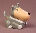 Tomy 2002 Micropets Gray Dog, The Eyes Light Up, Moves & Makes Sounds