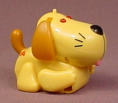 Tomy 2003 Micropets Yellow Dog, The Eyes Light Up, Makes Sounds, Does Not Move Around
