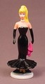 Barbie Cool Times PVC Figure With A Base Black Evening Gown, 3 1/4 Inches Tall, 1989 Arco
