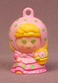 Charmkins Chrysanthimum Charm Doll Figure, 1 1/4 Inches Tall, Scented, 1984 Hasbro, Vintage
