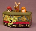 Scooby Doo Rolling Coffin With Pull Back Motor, Velma & Daphne Pop Up & Down As It Rolls
