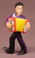 The Wiggles Jeff With An Accordion PVC Figure, 3 1/4 Inches Tall, Children's TV Show, 2004