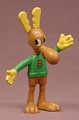 Rocky & Bullwinkle Vintage Moose Bendy Rubber Figure, 3 1/4 Inches Tall, Mini Version