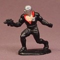 GI Joe Mini Cobra Destro PVC Figure On A Base, 1 5/8 Inches Tall, G.I. Joe, 1989 Hasbro