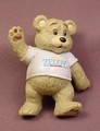 Zeddy Teddy Bear PVC Figure In A Walking Pose, Advertising Premium For Zellers, 2 1/2 Inches