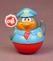 Weebles Penguin Crossing Guard, Policeman, Weebleville, 2003 Playskool Hasbro