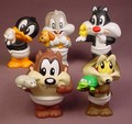 Looney Tunes Set Of 5 Baby Character Figures, The Tallest Is 3 1/2 Inches Tall, Baby Bugs