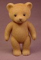 Teddy Bear Figure Toy That Is Flocked Or Fuzzy, 4 1/2 Inches Tall, Head Arms & Legs Move