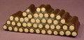Tonka Log Wood Pile From A Camping The Smokey Bear Way Play Set #5020, 5 Inches Long