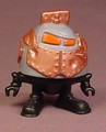 Smax Roboto Figure, 2 1/2 Inches Tall, When The Hand Is Pressed The Head Pops Off