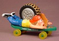 Smack-Ups Timmy Tire Track Skateboard Figure Toy, 4 3/4 Inches Long, Smack Ups, 1986