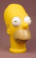 The Simpsons Homer Simpson Head, Finger Puppet, 3 3/4 Inches Tall, Doll Head