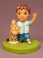 Dora The Explorer Diego & Baby Jaguar PVC Figure On A Green Base, 3 1/4 Inches Tall, 2006