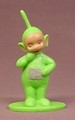 Teletubbies Dispsy PVC Figure On A Base, 2 5/8 Inches Tall