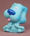 Blue's Clues With Tongue Sticking Out Vinyl Figure Toy, 2 5/8 Inches Tall, Blues Clues, 1998