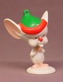 Animaniacs The Brain Wearing An Elf Hat PVC Figure, Pinky And The Brain, 2 1/4 Inches Tall