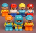 Bandai Tonka Lot Of 7 Little People Playset Figures (A), 2 1/4 Inches Tall, Tonka