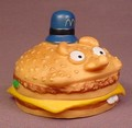 McDonalds Vintage Officer Big Mac Rubber Or Vinyl Figure Toy, 2 3/4 Inches Wide