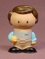 Play Town Boy Son Figure With Brown Hair, Wood & Plastic, 2 3/4 Inches Tall, Wooden