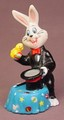 Easter Bunny Magician Pulling A Chick From A Magic Hat Vinyl Figure, 3 5/8 Inches Tall, 1993