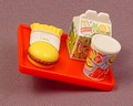 Barbie Loves McDonalds Clip On Tray With Food, 1982 Mattel