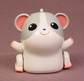 Tomy Micropets Gray & White Hamster, Lights Up And Moves, Makes Sounds, 2002 Tomy