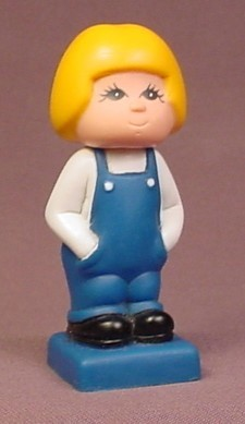 Tyco Rubber Or Vinyl Girl Figure That Came From A Vintage Tyco Pre-School Super Blocks Set