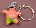 Spongebob Squarepants Patrick Pirate PVC Figure Keychain, 2 Inches Tall, Key Chain