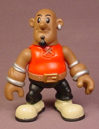 African American Pirate PVC Figure With Silver Arm Bands, 3 3/4 Inches Tall, Keenway