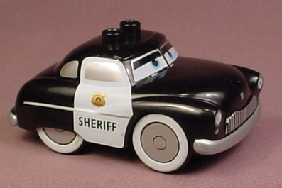 Lego Duplo Disney Pixar Cars Sheriff Police Car, 4 1/4 Inches Long, 89803 Body, 88760 Chassis