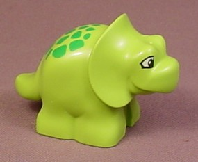 Lego Duplo 31046 Lime Green Baby Triceratops Dinosaur With Green Spots Pattern, 5598