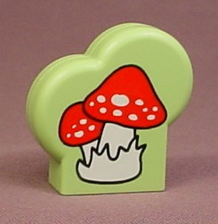 Playmobil 123 Green Plant With Mushroom Pattern On Both Sides, 5058 6772, 60 64 4320
