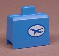 Playmobil 123 Blue Suitcase With Airplane Pattern On One Side And Tag Pattern On The Other