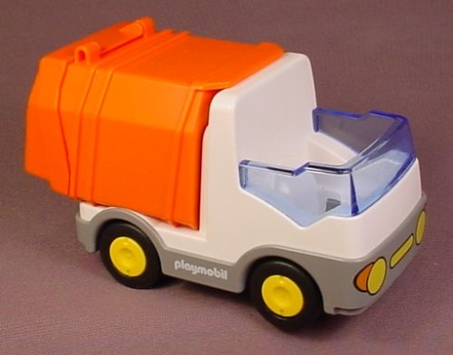 Playmobil 123 Garbage Truck With Tip Up Back That Opens, Vehicle, 5 1/2 Inches Long
