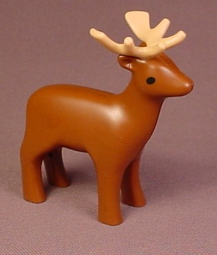 Playmobil 123 Stag Father Deer With Antlers, Buck, Animal Figure, 5058 5497 6772 6787