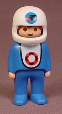 Playmobil 123 Adult Male Astronaut Figure With White Helmet & Blue Space Suit, 6776