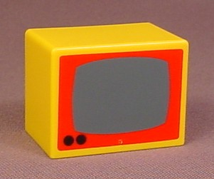 Playmobil 123 Yellow TV Or Microwave, Furniture, 6600