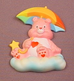 Care Bears Friend Bear With Umbrella Fridge Magnet, 2 5/8 Inches Tall, Not For Children