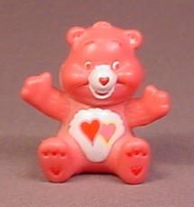 Care Bears Love A Lot Bear In Sitting Pose PVC Figure, 1 3/4 Inches Tall, Figurine, TCFC