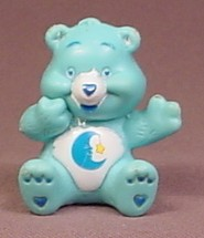 Care Bears Bedtime Bear In Sitting Pose PVC Figure, 1 3/4 Inches Tall, Figurine, TCFC