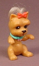 Barbie Posh Pets Brown Girl Puppy Dog PVC Figure, From B6358 Park Playset, 2003 Mattel