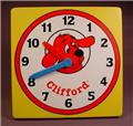 Clifford The Big Red Dog Pretend Clock, Great Learning Tool, Both Hands Move, 7 Inches