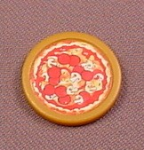 TMNT Pizza Disc Accessory For A 1994 Pizza Tossin' Action Figure, Playmates, Teenage Mutant