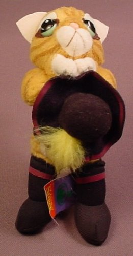 Shrek The 3RD Plush Puss In Boots Holding His Hat Figure, 5 1/2 Inches Tall, Has The Tag