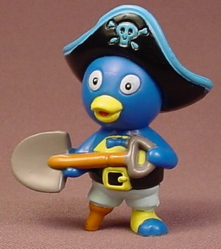 The Backyardigans Pirate Pablo With Pirate Hat & Shovel PVC Figure, 2 5/8 Inches Tall, 2006