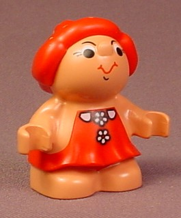 Lego Duplo 31232 Forest Friend Figure, Female, Red Dress With Daisies Pattern