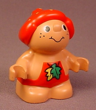 Lego Duplo 31232 Forest Friend Figure, Male With Red Overalls, Green & Yellow Leaf Pattern