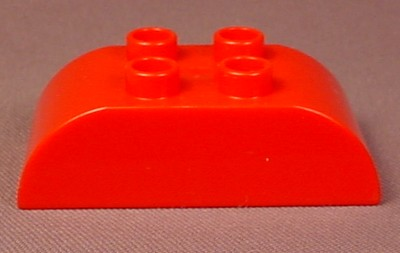 Lego Duplo 98223 Red 2X4 Brick With Downward Curved Ends, Farm, Circus, Superman, Disney